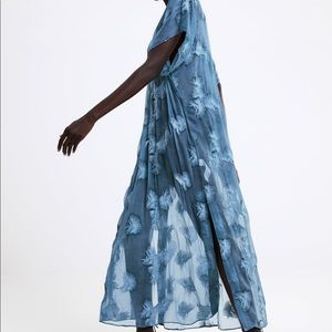 Zara Dresses - NWT Zara semi-sheer embroidered tunic SZ M